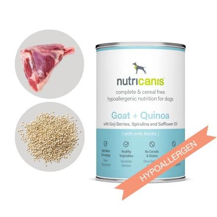 Hypoallergenes Nassfutter Hund Adult: Ziege + Quinoa mit Mariendistel