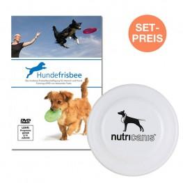Set: Frisbee + Disc Dog DVD mit Anleitung