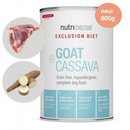 Exclusion Diet Nassfutter Hund Adult: 800g Ziege + Cassava