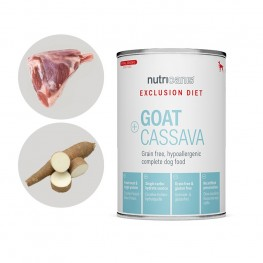 Exclusion Diet Nassfutter Hund Adult: 400g Ziege + Cassava