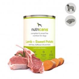 Nassfutter Hund Adult: 400g Lamm + Süßkartoffel mit Mariendistel