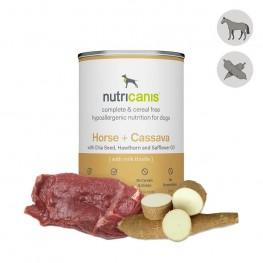 Nassfutter Hund Adult: 400g Pferd + Cassava mit Mariendistel