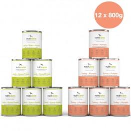 Nassfutter Hund Adult 12er Mix Lamm & Pute (800g)