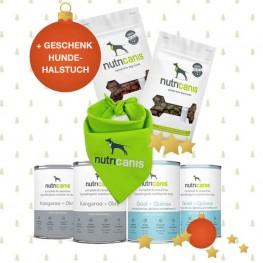 Schlemmerpaket 2 x Känguru + 2 x Ziege + gratis Hundehalstuch