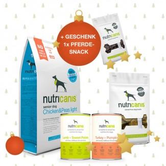 Schlemmerpaket Trockenfutter Senior + Nassfutter + Snacks